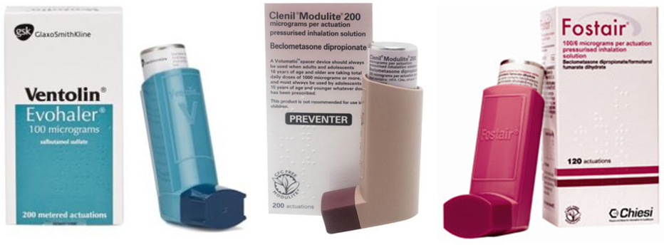 image of inhalers
