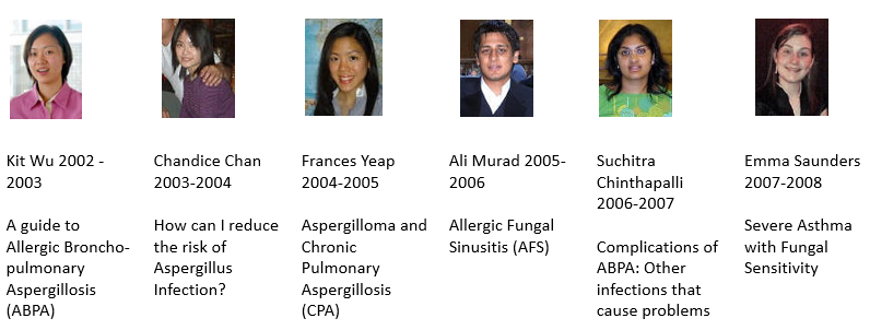 Medical students who have produced the aspergillosis information leaflets